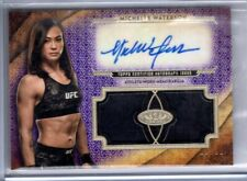 2018 Topps UFC Knockout Auto MICHELLE WATERSON Dual Relic AUTOGRAPH /25 Tier One