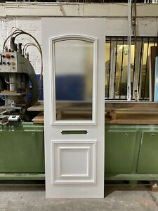 UPVC Door Panel, New, White, 630mm Wide 1870mm Height, 28mm Thick (P202)