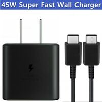 For Samsung Galaxy Note 10 Plus 45W Super Fast Wall Charger USB-C Type-C Cable