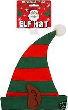 Adult Men Ladies Elf Pixie Gnome Santas Christmas Helper Fancy Dress Costume Hat