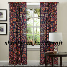 Indian Curtains Hippie Elephant Mandala Tapestry Wall Hanging Bohemian Valances