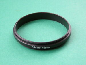 49mm-49mm 49mm-49mm Male to Male Double Coupling Ring Reverse Adapter 49-49mm