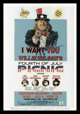 """Framed Vintage Style Rock n Roll Poster """"WILLIE NELSON""""; 12x18"""