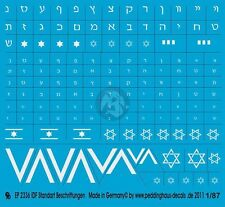 Peddinghaus 1/87 (HO) Israeli IDF Standard Markings for Tanks and Vehicles 2336