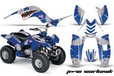 ATV Graphics Kit Quad Decal Sticker Wrap For Yamaha Raptor 80 02-08 WARHAWK BLUE