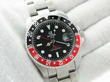 ALPHA GMT-MASTER COLA INSERT MATTE BLACK DIAL AUTOMATIC WATCH*Ebay Lowest Price*