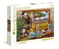 Clementoni Puzzle 1000 Teile Zum Leben erweckt (39296) Elefant Zebra Flamingo