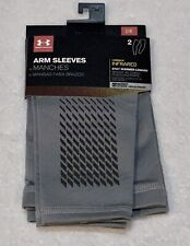 UNDER ARMOUR Infrared Coldgear Compression Grey Running Arm Sleeves Mens S / M