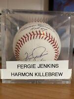 Fergie Jenkins + Harmon Killebrew HOF OMLB Signed Autographed Ball MLB COA