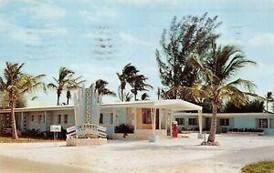 Ft. Myers Beach, Fla - GULF ECHO MOTEL  -  Vintage Mid-Century POSTCARD