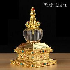 "5.5""New design Neon Buddhism  Buddhist Sakyamuni Relic dagoba Tower Stupa Pagoda"