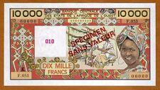 SPECIMEN West African States, Senegal, 10000 (10,000) Fr, (1992) P-709Ks UNC