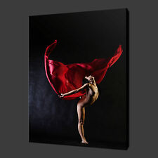 EROTIC DANCER SCARF CANVAS WALL ART PICTURES PRINTS 30 X 20 Inch WALL ART