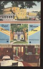 Postcard Mercer PA Hotel Humes Multi-View 1940's