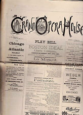 Grand Opera House Play Bill November 12 1883 La Mascot & Fatinitza
