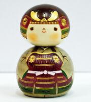 Usaburo Kokeshi Japanese Wooden Doll 7-31 Kabuto-kun (Samurai Helmet)
