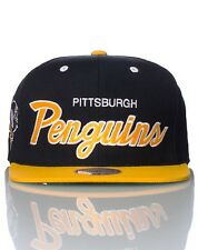 NHL Pittsburgh Penguins Mitchell and Ness Snapback Hat Vintage Cap Throwback M&N