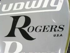Rogers Black Replica 60's 70's 80's Logo Replacement