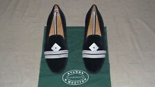 """NEW! Men's $495 Stubbs & Wootton Blue Velvet """"ADMIRAL"""" Slippers Loafers Shoes"""