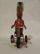 "Vintage Tin Duck on Tricycle Wind-Up Whirling Spinning Top ""Blic"""