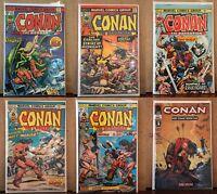 Conan The Barbarian Marvel Bronze Age Lot: 42, 47, 48, 49, 53 Plus Bonus Conan
