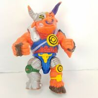 "Vintage Original TMNT Groundchuck Bull Mean Munitions Mutant 5"" Figure 1991"