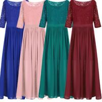 Women's Lace Chiffon Evening Cocktail Dress Bridesmaid Evening Prom Party Gowns