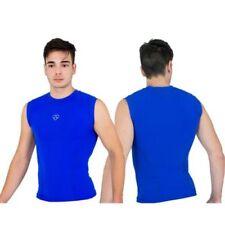 Vêtements et accessoires de fitness bleus en lycra