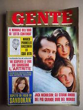 GENTE n°20 1976 Marco Panella si racconta - Jack Nicholson  [G685B]