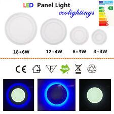18+6w LED Slim Panel Light Ceiling Panel Down Lights 3 Mode Dual Color 6pcs UK