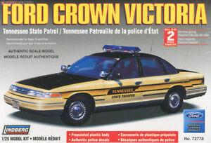 1:25 Scale Ford Crown Victoria Lindberg #72778 Plastic Model Kit