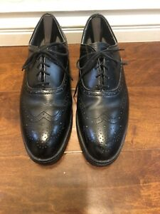 red wing Mens Shoes Wing Tip Black Leather Sz 10.5 EE US