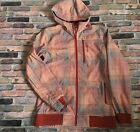 Burton Dry Ride Snowboarding Shell Jacket Hooded Men Size Medium M Check Orange
