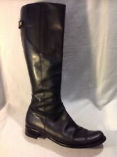 Due Passi Black Knee High Leather Boots Size 39
