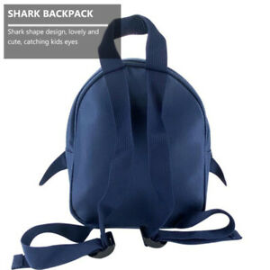 1pc Cartoon Children Shark Backpack Small Backpack Kindergarten Baby Dark Blue