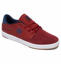 Tg 42 - Scarpe Uomo Skate DC Shoes Plaza Burgundy Sneakers Schuhe 2019