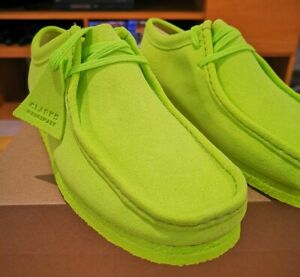 Clarks Wallabees Lime Green /Neon Green. UK 8.5