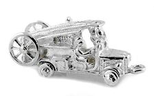 STERLING SILVER MOVABLE FIRE ENGINE CHARM