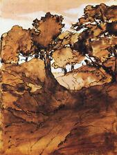 "Edgar Degas Vintage  ""A landscape in Normandy""11x14 Inches  Photo Art Reprint"