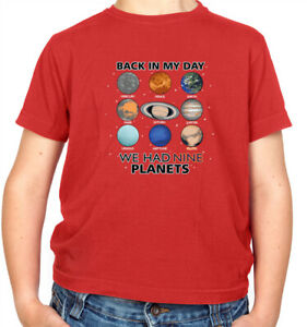 We Had Nine Planets - Childrens / Kids T-Shirt - Pluto - Astronomy Funny Science