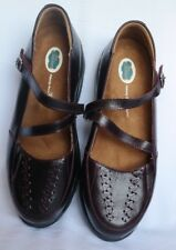 DR COMFORT BETSY BURNISH LEATHER MARY JANES 8.5 W