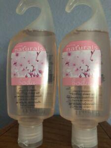 2 Avon Naturals Cherry Blossom Body Wash Moisturizing Shower Gel 5 Fl. Oz. New