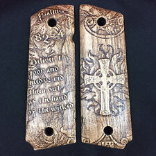 1911 Grips - Psalms 82:4, Government and other wooden 1911 pistol grips