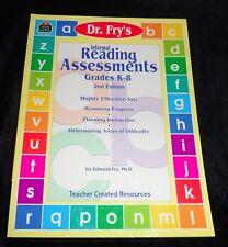 Dr. Fry's Informal READING ASSESSMENTS  Grades K - 8 | 2nd Edition