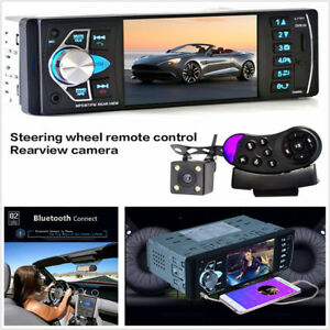 "DC12V 4.1"" HD Car Bluetooth Radio MP5 MP4 Player FM AUX + Rearview Camera"