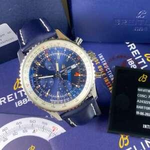 Breitling Navitimer GMT Chronograph A24322 Navi World - Blue Dial