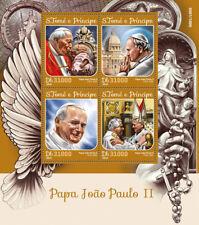 Sao Tome & Principe 2016 MNH Pope John Paul II 4v M/S Popes Stamps