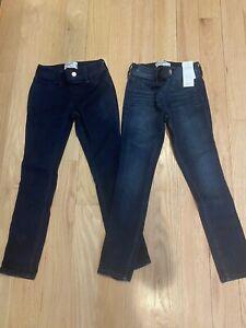 Lot 2 NEW Abercrombie Kids Girls' Pull on Jean Legging Size 7/8