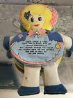 Vintage rag doll With Reversible storybook Body Goldilocks & Cinderella