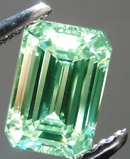 8.92 ct SI1/ ICE WHITE BLUEISH GREEN COLOR LOOSE EMERALD REAL MOISSANITE